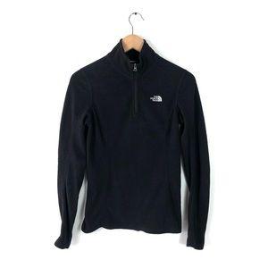 The north face sweater half zip fleece small black